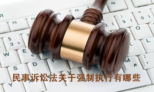 民事诉讼法关于强制执行有哪些?